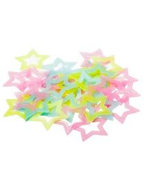 Fashion 40pcs Glowing Stars Plastic Fluorescent Wall Sticker