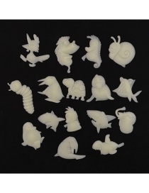 Fashion 4-6cm 16pcs/package Various Animal Fluorescent Wall Stickers