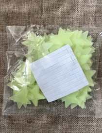 Fashion 3cm Green 100pcs/bag 3cm Star Luminous Patch 100pcs