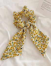 Fashion Yellow Floral Flower Streamer Hair Band