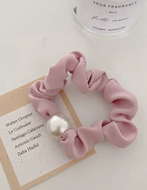 Fashion Pink Pearl Solid Color Hair Tie