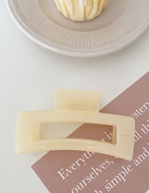 Fashion Jelly Beige Solid Color Geometric Hair Scratches