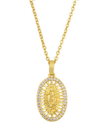 Fashion Hollow Gold Diamond-plated Virgin Gold Necklace