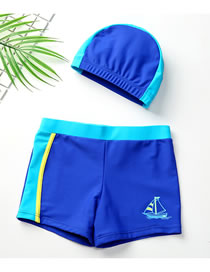 Fashion Sailing Childrens Swimming Trunks And Caps