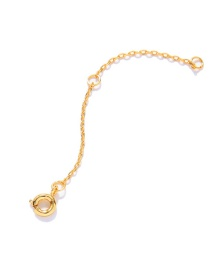 Fashion Golden Alloy Necklace Extension Chain