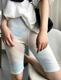 Fashion Color Mixing Tie-dyed Elasticated Waist Trousers