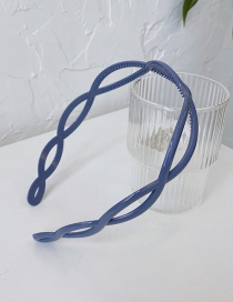 Fashion Blue Cross Resin Hollow Toothed Non-slip Headband