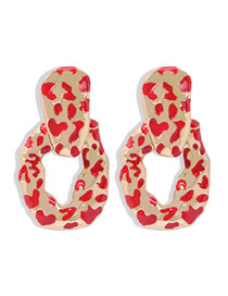 Fashion Red Irregular Dripping Alloy Plating Geometric Earrings