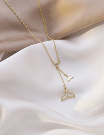 Fashion Golden Drop Oil Fish Tail Alloy Tassel Necklace