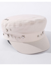 Fashion Beige Star Accessories Pure Color Hat