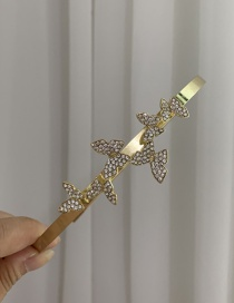 Fashion Hair Band Diamond-studded Butterfly Alloy Hair Band Hairpin