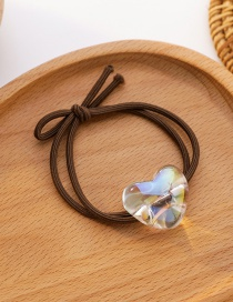 Fashion Love Section Star Love Transparent Resin Knotted Hair Rope