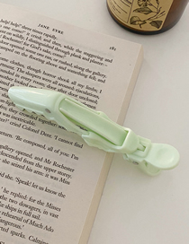 Fashion Mint Green Resin Hollow Hairpin Without Trace