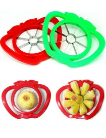 Fashion Color Mixing Apple Fruit Cutter With Handle
