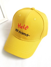 Fashion Yellow Letter Embroidery Sun-proof Sunshade Childrens Cap