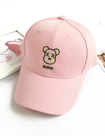 Fashion Pink Bear Letter Embroidery Sun Protection Cap