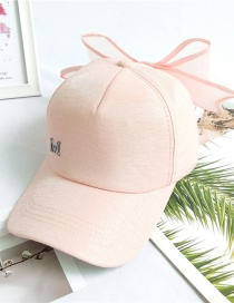 Fashion Pink Baseball Cap With Bow