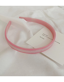 Fashion Cherry Blossom Powder Solid Color Resin Headband With Leather Teeth