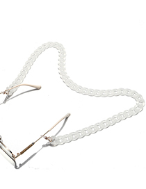 Fashion White Acrylic Frosted Thick Chain Glasses Chain