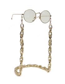 Fashion Golden Color Preserving Thick Aluminum Chain Anti-skid Glasses Chain