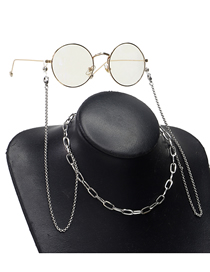 Fashion Silver Stainless Steel Thick Chain Glasses Chain Necklace Dual Purpose