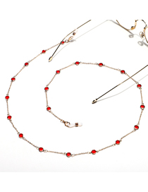 Fashion Red Handmade Crystal Chain Alloy Glasses Chain