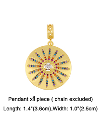 Fashion Colorful Sun Pendant Diamond-studded Skull Love Letter Geometric Alloy Pendant Accessory