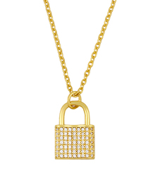 Fashion Lock Shape Love Lock Alloy Necklace
