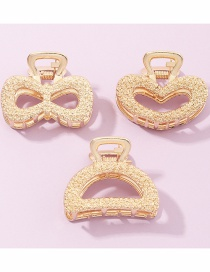 Fashion Golden Color Geometric Resin Hollow Bow Heart-shaped Catch Set