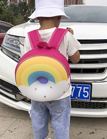 Fashion Color Donut Rainbow Print Kids 3d Backpack