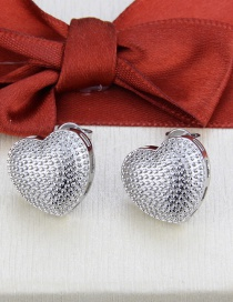 Fashion Platinum Plated Electroplated Love Dot Earrings