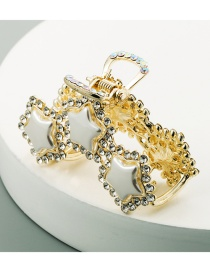 Fashion Golden Diamond-studded Five-pointed Star Hollow Alloy Grip
