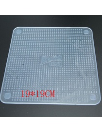 Fashion White Transparent Bowl Cover With Non-slip Particle Sealed Plastic Wrap