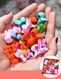 Fashion 25 Doudou Buckle Clips + 25 Rabbit Ears Gripping Clips Resin Geometrical Contrast Color Gripper
