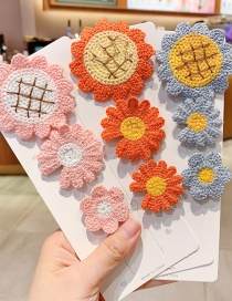 Fashion Sunflower Daisy Type B [9 Packs] Knitted Flowers Fruits Animals Bows Hit Color Velcro