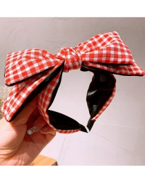 Fashion Red Small Square Double-layer Big Bow Headband