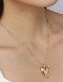 Fashion Golden Heart Bedding Alloy Necklace