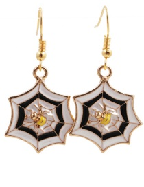 Fashion Golden Spider Dripping Alloy Geometric Alloy Earrings