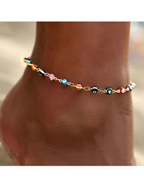 Fashion Anklet Oil Dripping Eye Color Alloy Anklet Necklace