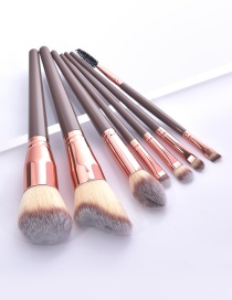 Fashion 7 Sticks Of Betel Gold Wooden Handle Aluminum Tube Makeup Brush Set