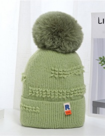 Fashion Fruit Green Letter Label Thickened Warm Knitted Woolen Hat