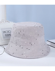 Fashion Gray Dome Stitched Knitted Fisherman Hat
