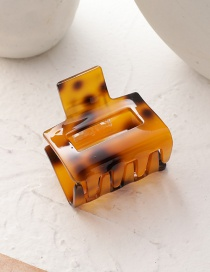 Fashion Leopard Hollow Resin Square Gripper