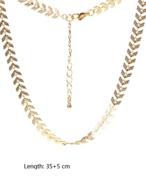 Fashion Arrow Golden Multilayer Necklace With Diamond Shell And Starfish Pendant