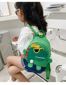 Fashion Green Childrens School Bag 3-6 Years Old Small Dinosaur Backpack