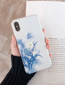 Fashion Begonia Flowers All-inclusive Photo Frame Resin Printing Anti-drop Phone Case