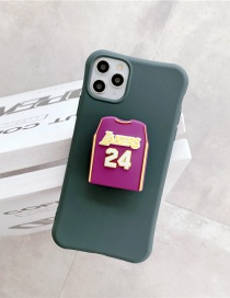 Fashion Jersey Dark Green Folding Bracket All-inclusive Silicone Phone Case