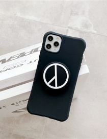 Fashion Black Folding Bracket All-inclusive Silicone Phone Case