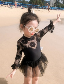 Fashion Black Childrens One-piece Swimsuit
