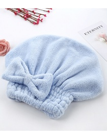 Fashion Blue Coral Fleece Super Absorbent Quick-drying Cap